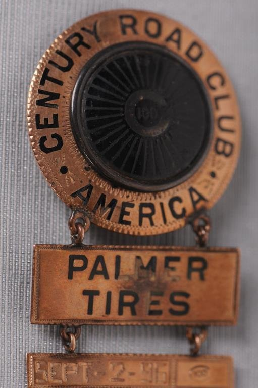 19th C. Bicycle Club / Palmer Tires Medal Century Road - 2
