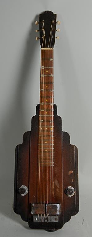 """c. 1940s Lap Steel Guitar Likely a """"house brand"""" guitar"""