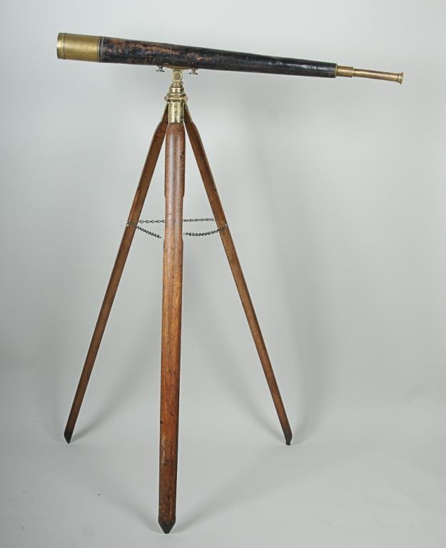 Ross of London Telescope & Tripod Two-draw brass and