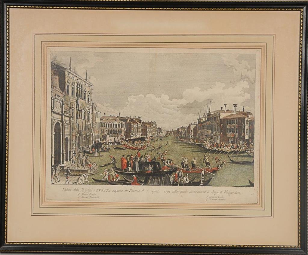 c. 1791 Venice Engraving Hand colored engraving