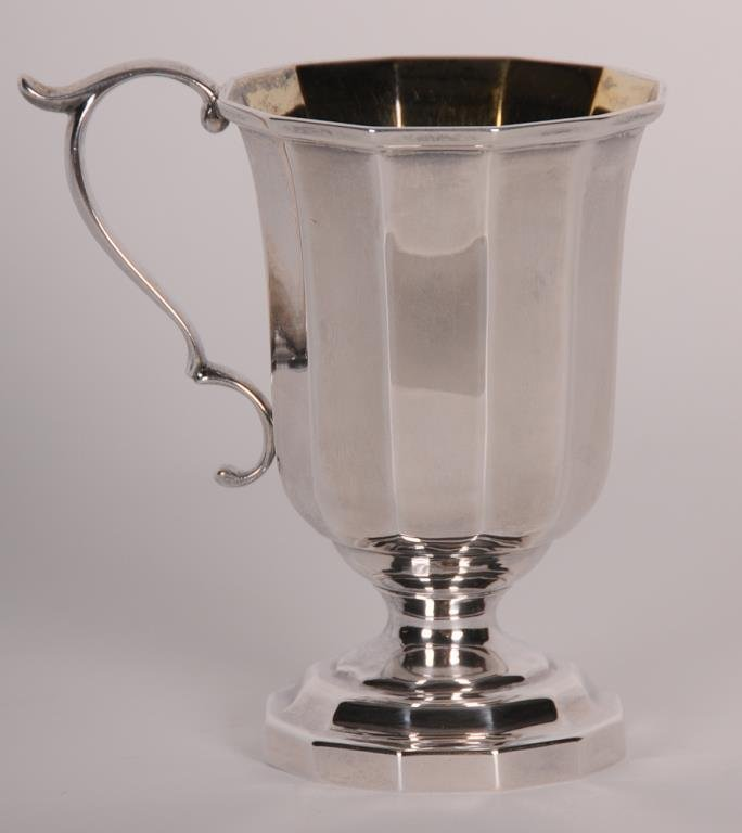Charleston Coin Silver Footed Cup Flared dodecagonal