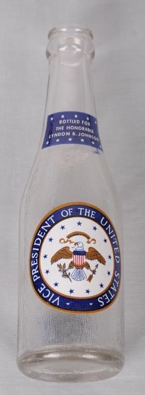 Historical Lyndon B. Johnson Canada Dry Bottle Canada