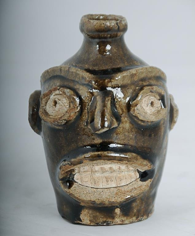Rare Edgefield Stoneware Face Jug Likely slave made, c.