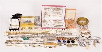 Sterling, Rhinestone, Costume Jewelry Assortment of