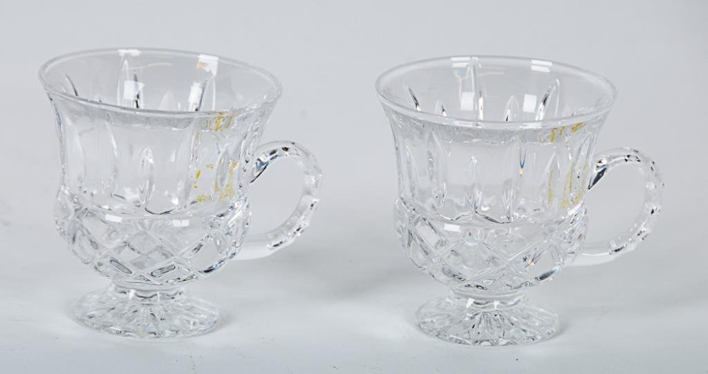 Gorham King Edward Punch Bowl & Cups Lead crystal - 3