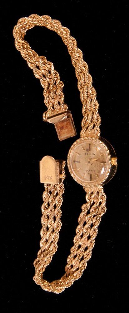 Lady's 14kt Gold Elgin Watch