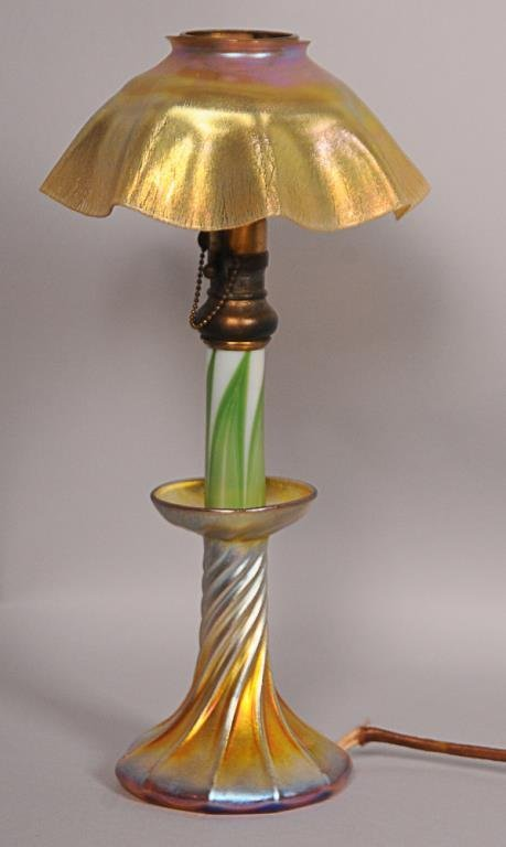 Tiffany Favrile Candle Lamp