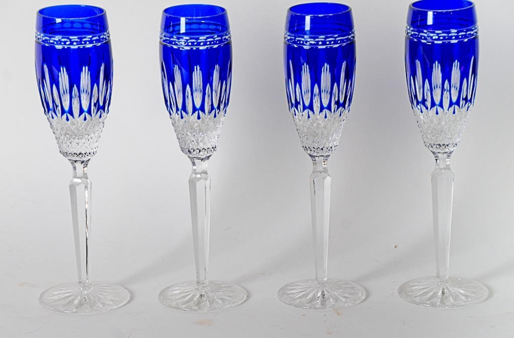 4 Waterford Clarendon Champagne Flutes