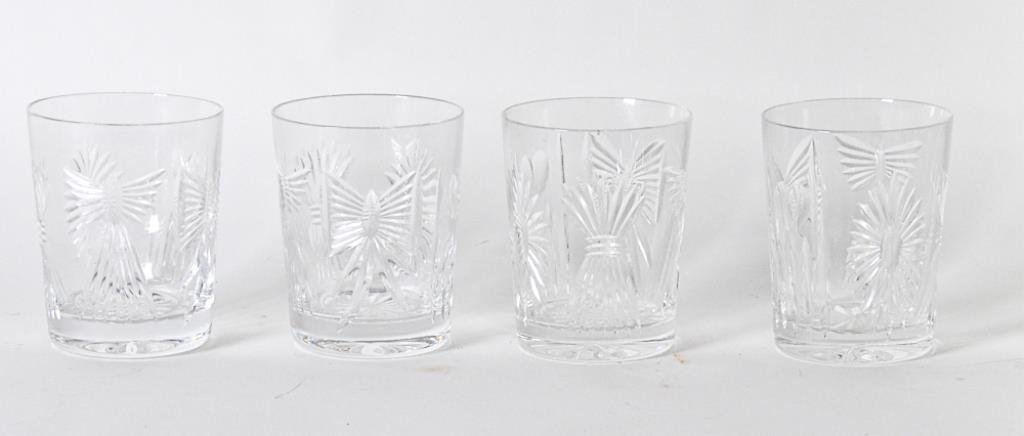 4 Waterford Crystal Old Fashioned Glasses