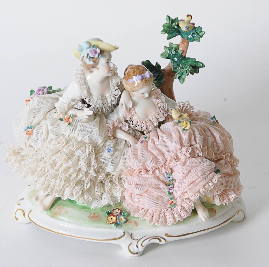 Unterweissbach Porcelain Lace Figural Group