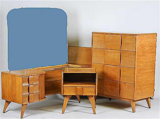 Heywood Wakefield Kohinoor 4 Pc Bedroom Set