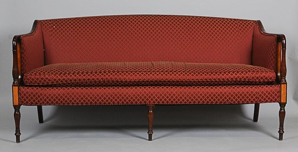 American Federal Style Mahogany Sofa