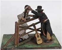 Folk Art Carved Wooden Diorama