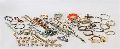 Lot of Costume Jewelry--Bracelets & Rings