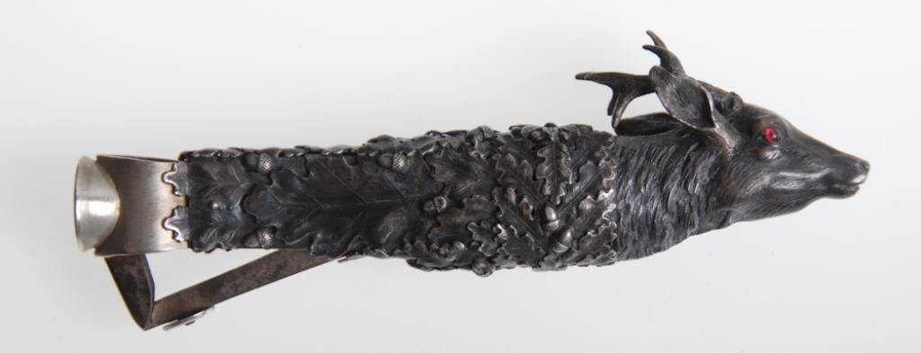 Fine Viennese Silver Cigar Cutter