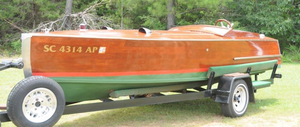 17-Foot Custom Built Mahogany Boat