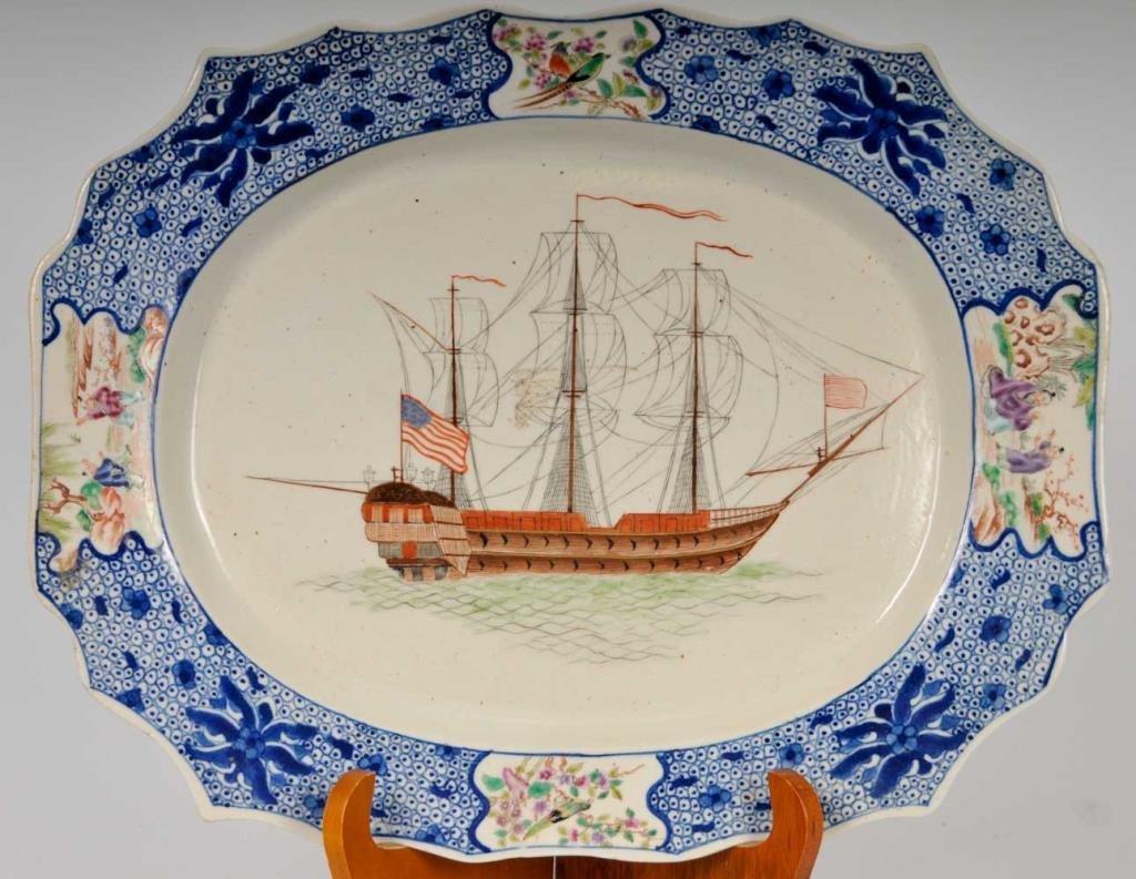 Antique Chinese Export Porcelain Platter