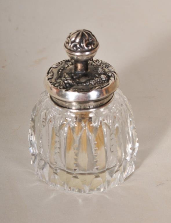 American Cut Glass & Sterling Glue Pot