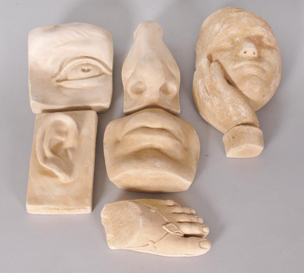 6 Caproni Style Plaster Casts aft. Classical Works