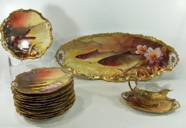4: Limoges Fish Set