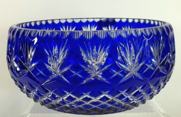 6: Blue Cut to Clear Bowl