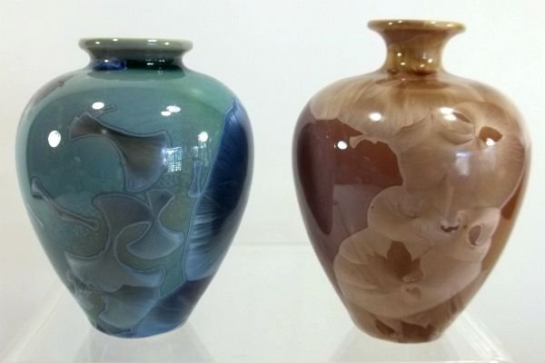 11: 2- Contemporary Art Pottery Vases