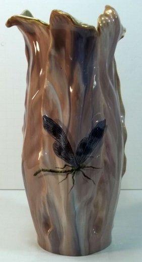 European Art Nouveau Pottery Vase
