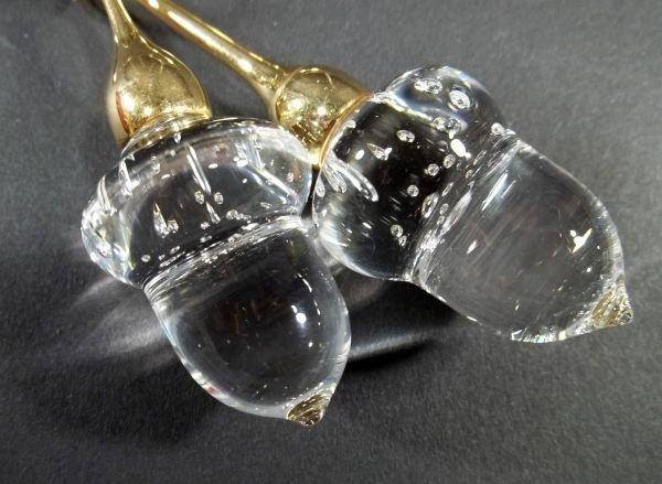 55: Steuben Acorns Pendant Necklace - 2