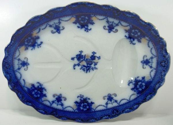 114: Flow Blue Staffordshire Meat Platter