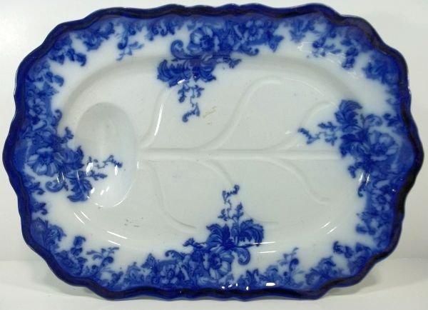 115: Flow Blue Staffordshire Meat Platter