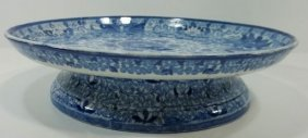 Blue Transfer Staffordshire Cheese Stand