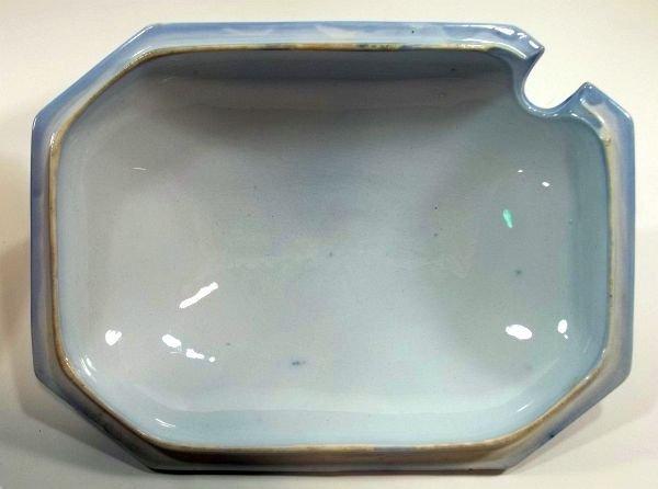 131: Flow Blue Staffordshire Soup Tureen - 7