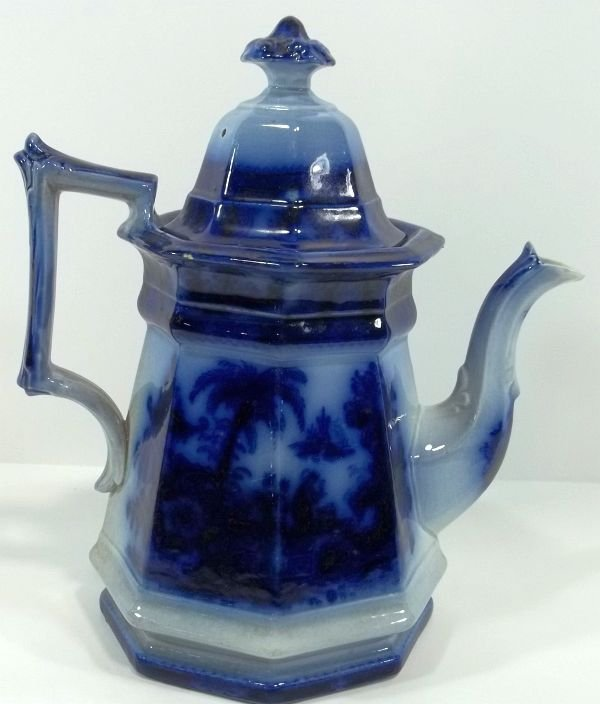 149: Flow Blue Staffordshire Coffee Pot - 2