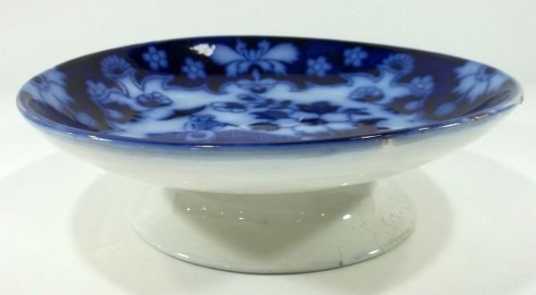 158: Flow Blue Staffordshire Low Compote