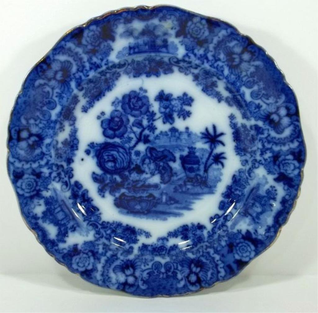 159: Flow Blue Staffordshire Plate