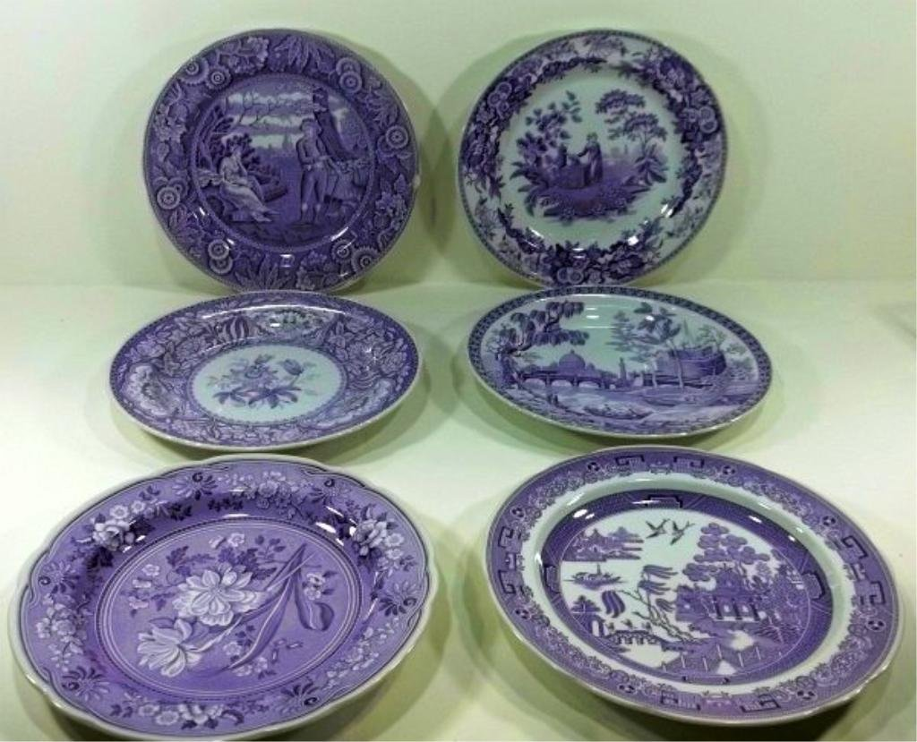 167: 6-Spode Archive Collection Plates 20th Century