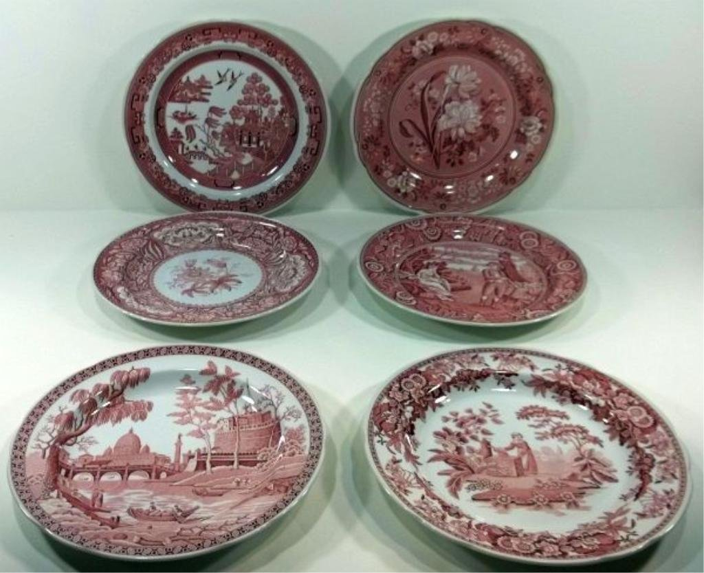 168: 6-Spode Archive Collection Plates 20th Century