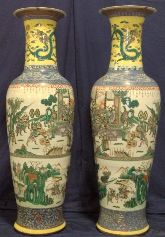 84: Linden Hall Chinese Vases 19th Century