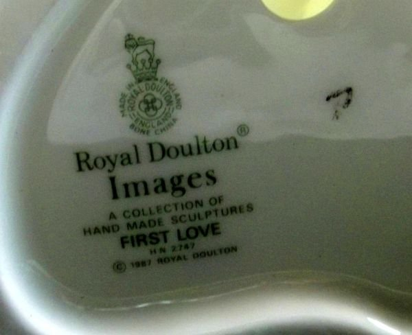 """111: Royal Doulton """" First Love"""" Figurine - 3"""