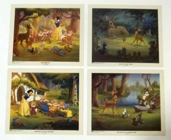 215: 4 Walt Disney Lithographs