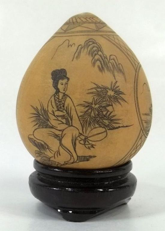 Etched Decorated Gourd