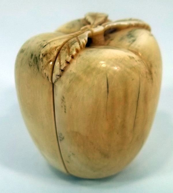 Nut / Fruit Carving Opens to 2 Erotic  Scenes