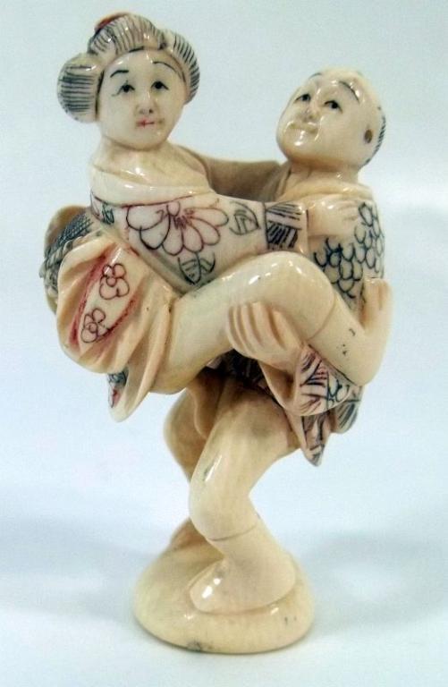 Carved Figures Erotic Scene