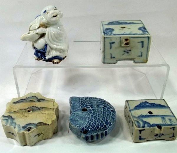 Korean Water Droppers Blue & White Ceramic
