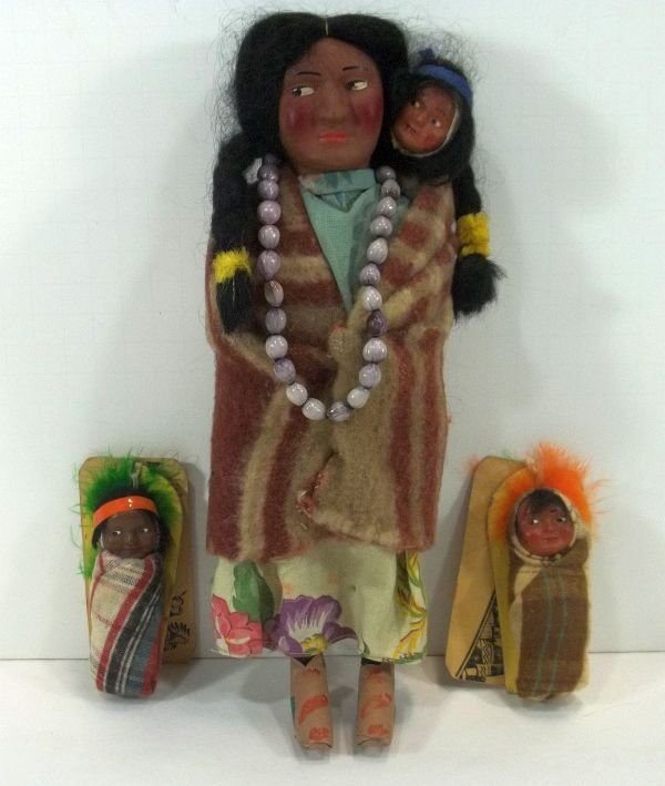 Skookum Indian Doll and 2 Papooses