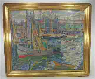 "O/C Elizabeth Robb ""Boats In Harbor"""