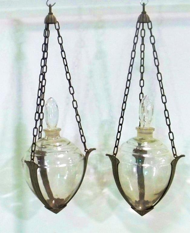 Pair of Pharmacy Apothecary Show Globes
