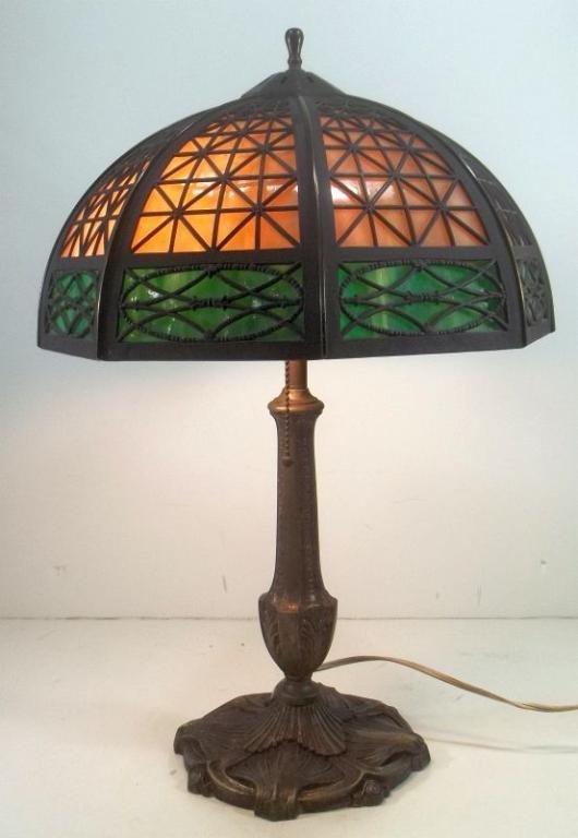 Slag Glass Panel Lamp