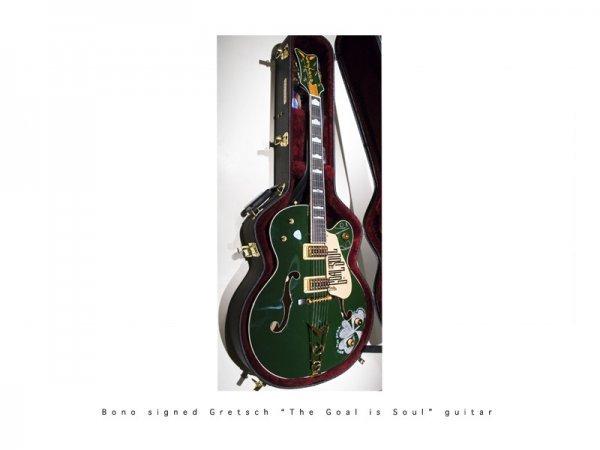 4: Bono signed guitar