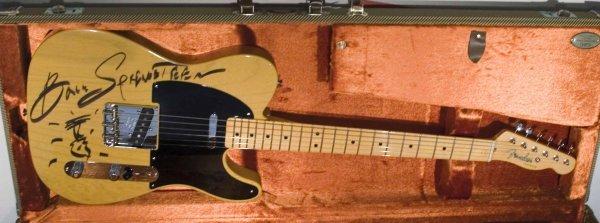 11: Bruce Springsteen signed guitar